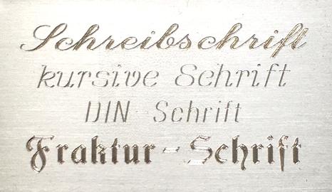 Schriftarten-silber